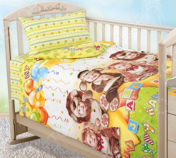 Ясельный комплект постельного белья Бамбино с компаньоном «Детский праздник»