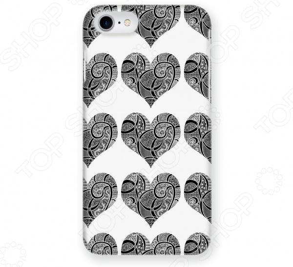 Чехол для iPhone 5 Mitya Veselkov «Зентангл-сердца» чехлы для телефонов mitya veselkov чехол для iphone 7 plus зентангл череп ip7plus mitya 010