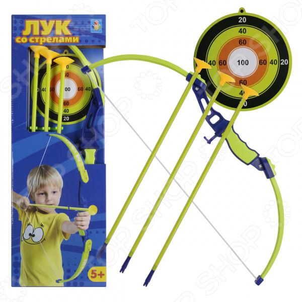 Набор оружия: лук, стрелы и мишень 1 Toy Т11621 охота стрелки стрельба из лука стабилизировать композитный лук стабилизатор резиновые аксессуары