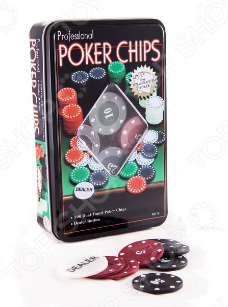 Набор игровой подарочный Покер 42445 комплект для игры в азартные игры, в частности для покера. В него входят 100 фишек для покера и дилерская кнопка. Рекомендуется регулярно удалять пыль сухой, мягкой тканью; а также беречь от влаги.