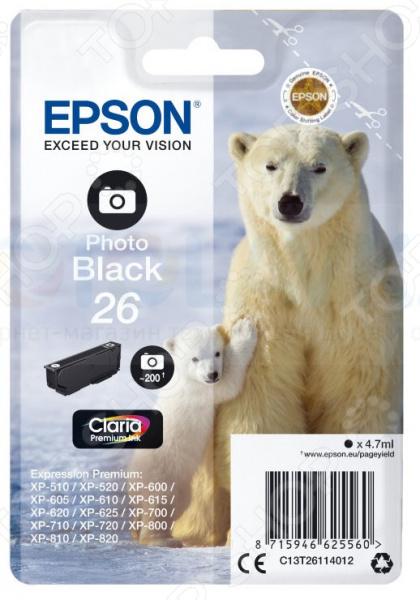 Картридж для фотопечати Epson T2611 для XP-600/605/700/800/710/820