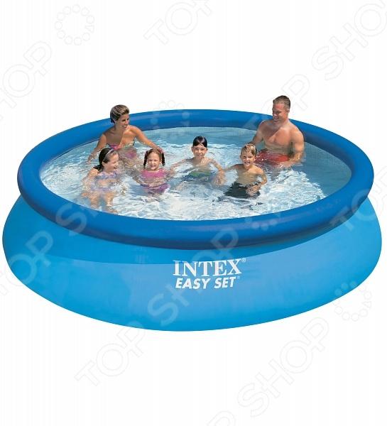 Бассейн надувной семейный с фильтр-насосом Intex Easy Set надувной бассейн intex easy set 3 05х0 76м 56922 28122 28122np