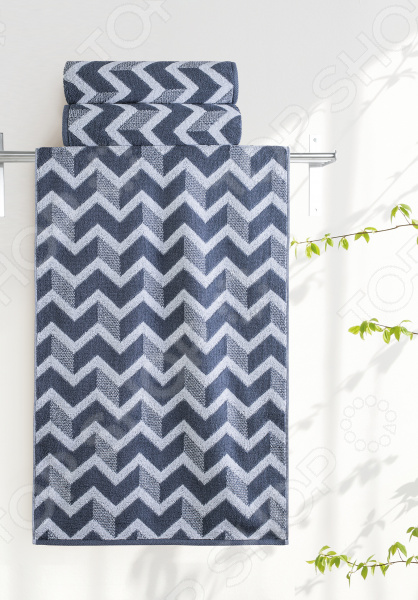Полотенце махровое Aquarelle «Бостон вид 3». Цвет: белый, маренго полотенце aquarelle бостон 1 цвет белый маренго 70 х 140 см