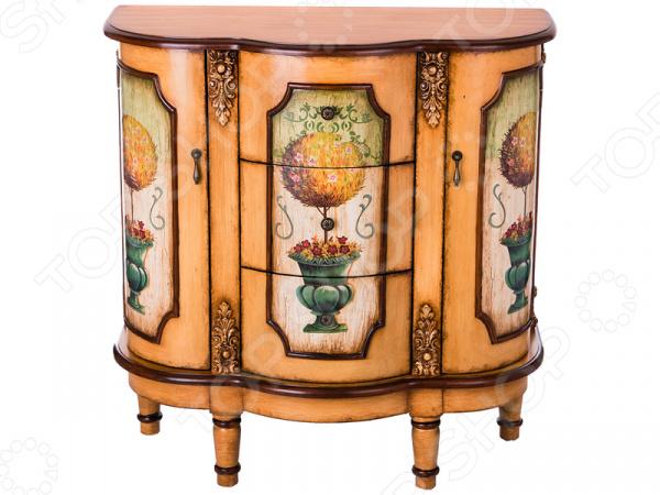 Комод 395-128 гладильный комод he wang с 3 корзинами и 2 ящиками цвет коричневый горчичный