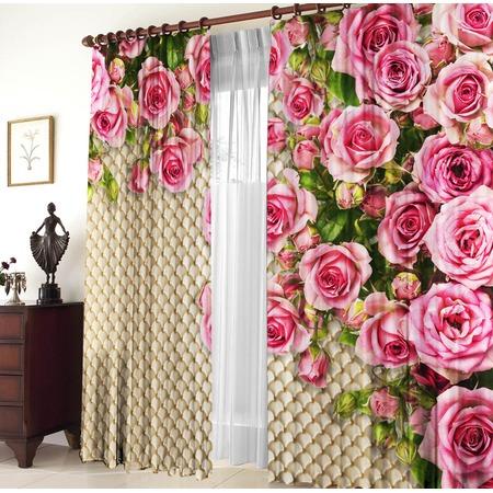 Комплект штор «Розовый сад»