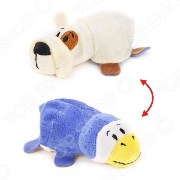 Мягкая игрушка 1 Toy «Вывернушка 2в1: Бульдог-Пингвин»