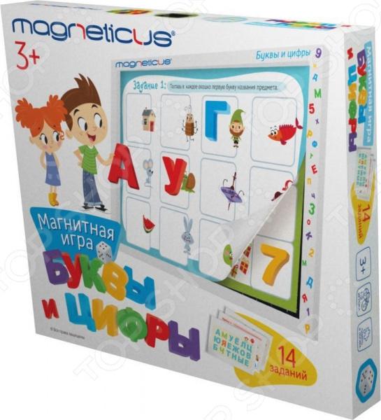 Набор обучающий для ребенка Magneticus «Буквы и Цифры» в картонной коробке игровой набор magneticus мягкие магнитные цифры num 002