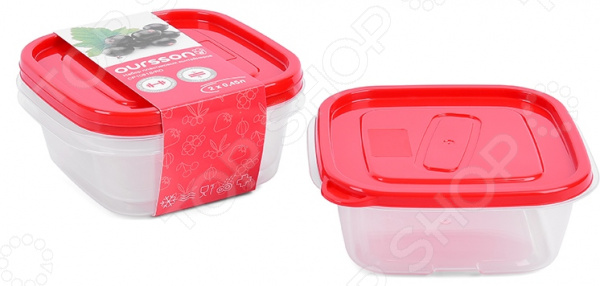 Набор контейнеров для хранения продуктов Oursson Easy Touch CP1081S/RD контейнер для хранения продуктов oursson cp 2300