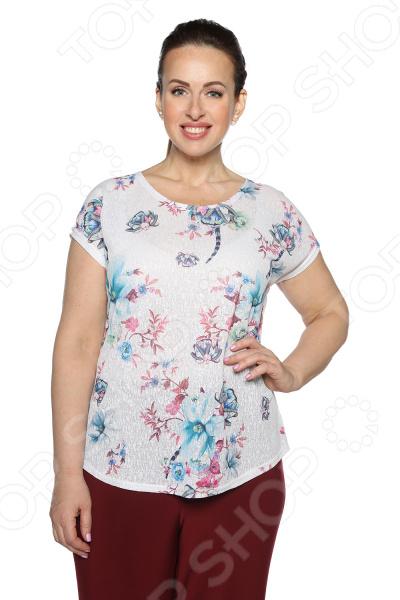 Блуза Blagof Блуза «Мерси». Цвет: голубой
