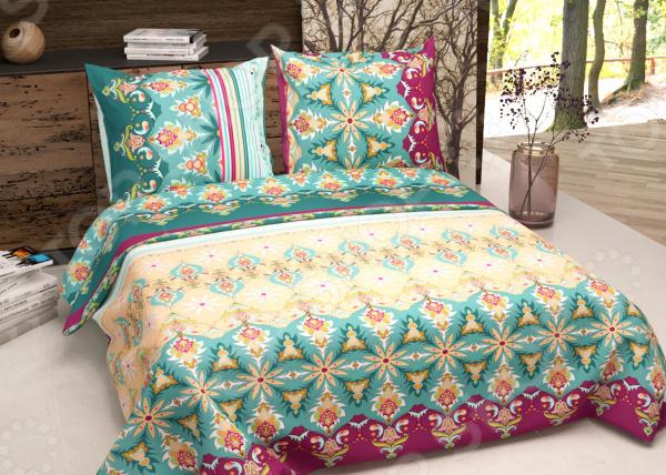Комплект постельного белья Текстильная Лавка «Мирослава». Цвет: зеленый, коричневый. 2-спальный