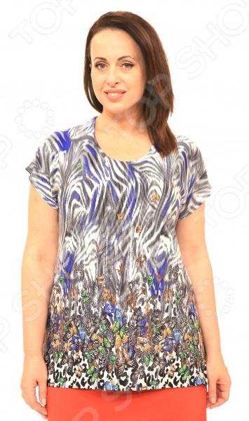 Блуза Pretty Woman «Солнечная». Цвет: синий