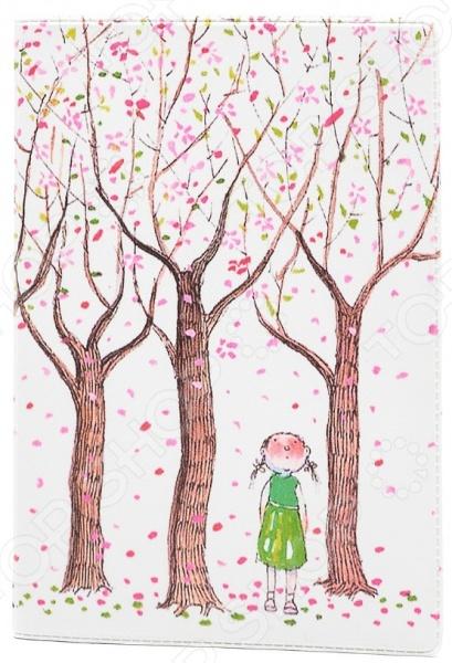 Обложка для паспорта кожаная Mitya Veselkov «Цветущие яблони» саженец яблони краса свердловска