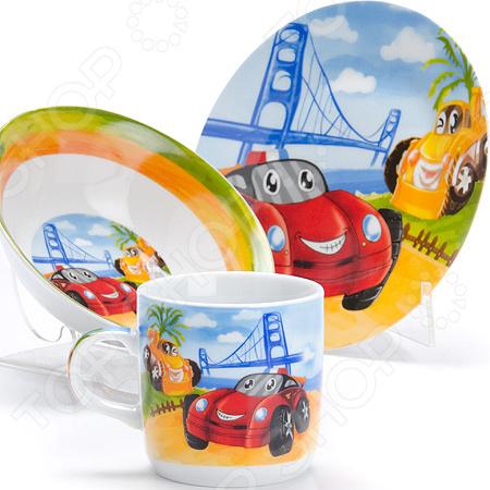 Набор посуды для детей Loraine LR-27333 «Авто»
