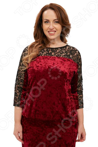 Блуза Лауме-Лайн «Легкий соблазн». Цвет: бордовый
