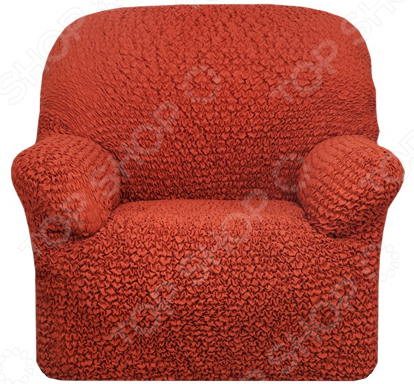 Натяжной чехол на кресло Еврочехол Еврочехол «Микрофибра. Терракотовый»