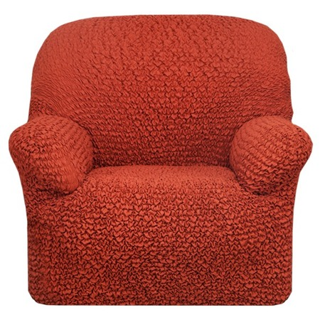 Купить Натяжной чехол на кресло Еврочехол «Микрофибра. Терракотовый»