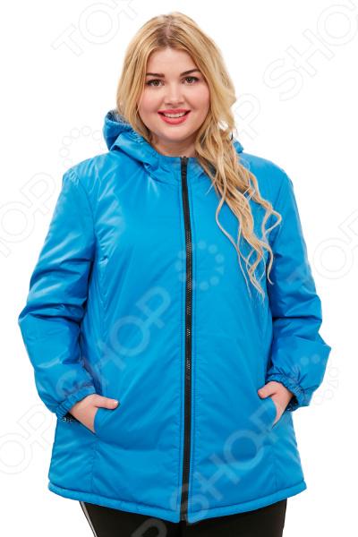 Куртка двухсторонняя СВМ-ПРИНТ «Белиссима». Цвет: бирюзовый
