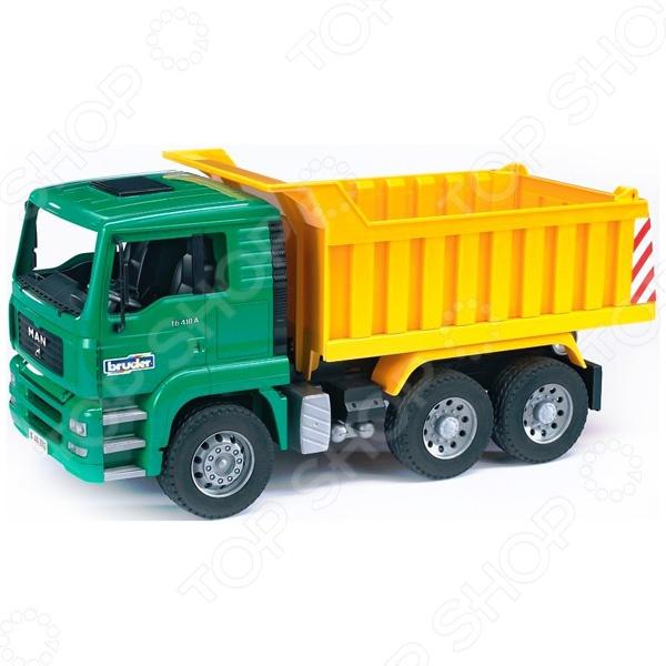 Самосвал игрушечный Bruder MAN игрушка bruder man самосвал с колёсным экскаватором liebherr 02 751