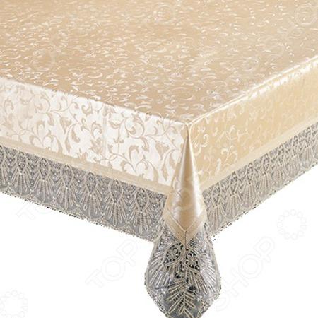 Купить Скатерть «Щедрый стол». Форма: овал. Размер: 152х228 см. Рисунок : узор