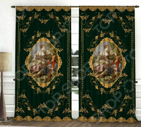 «Викторианский стиль изумруд» Фотошторы Zlata Korunka «Викторианский стиль». Цвет: изумруд