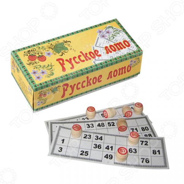 Игра «Русское лото». Материал: дерево