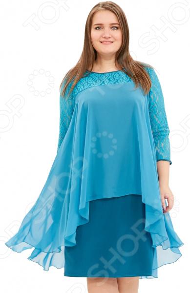 Платье Pretty Woman «Небесная красота». Цвет: бирюзовый