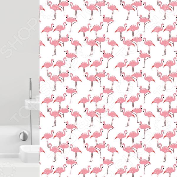 Штора для ванной Bacchetta Flamingo