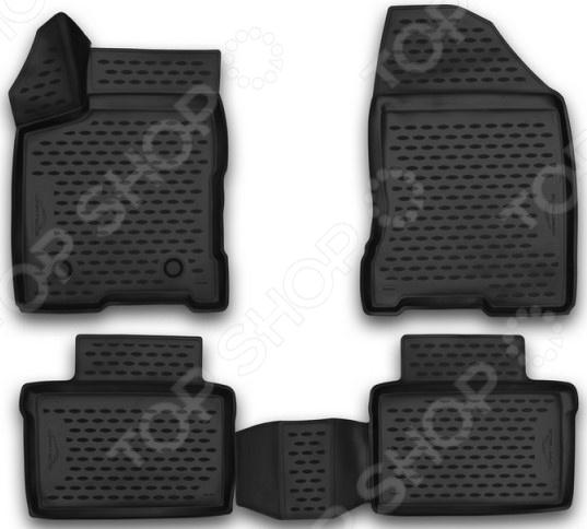Комплект 3D ковриков в салон автомобиля Element LADA Vesta, 2015
