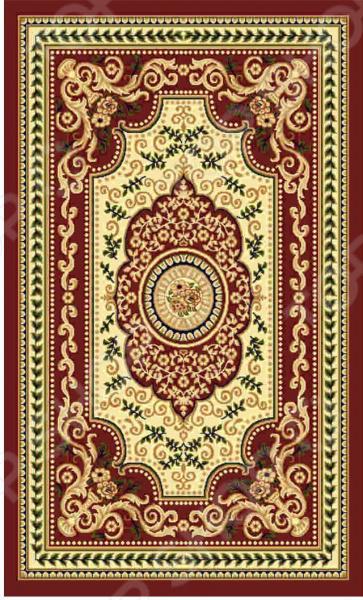 Ковер прямоугольный Kamalak tekstil «Ренессанс». Цвет: бордовый - артикул: 1602644