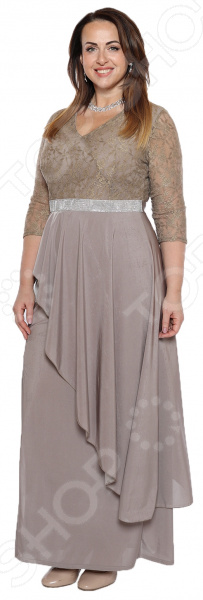 Платье Pretty Woman «Неделя моды». Цвет: бежевый