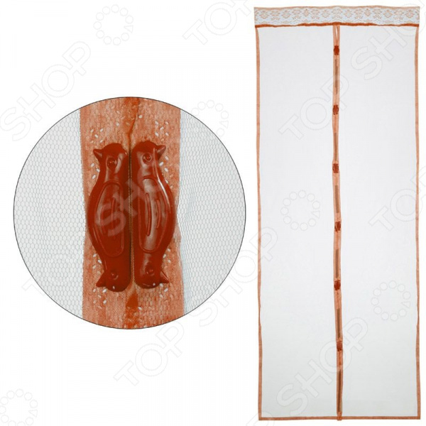 Сетка антимоскитная Рыжий кот «Капутомоскито. Птички» с утяжелителями на магнитах