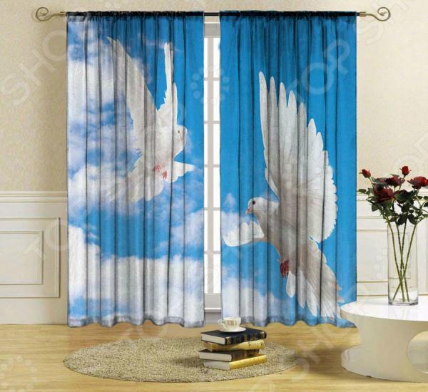 Комплект штор ТамиТекс «Голуби» голуби николаевские в украине купить