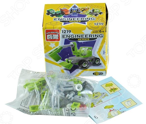 Конструктор игровой Brick 1219 «Экскаватор» умный шмель магнитный конструктор грузовик и экскаватор