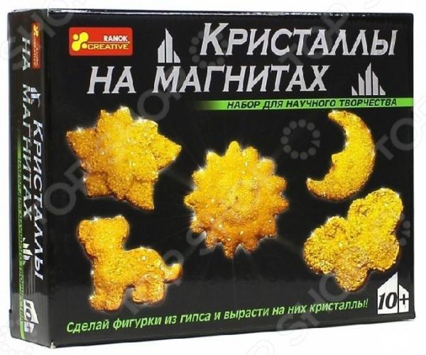 Набор для выращивания Ранок «Кристаллы на магнитах желтые»