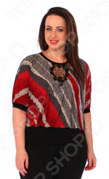 Блуза Wisell «Королевская мечта». Цвет: красный|черный цена 2017