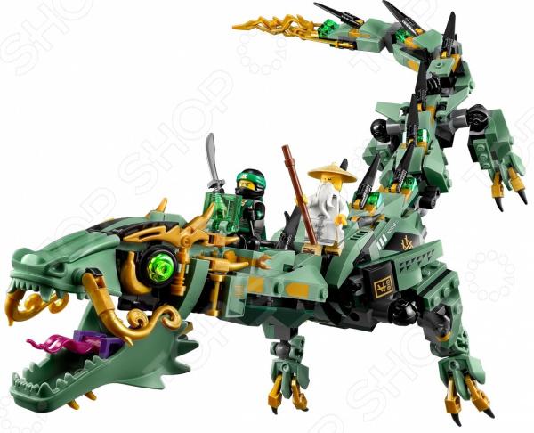 Конструктор игровой LEGO «Механический Дракон Зеленого Ниндзя»