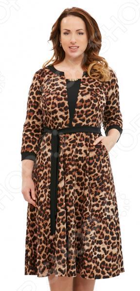 Платье Матекс «Счастливая женщина». Цвет: коричневый платье матекс уютная цвет синий