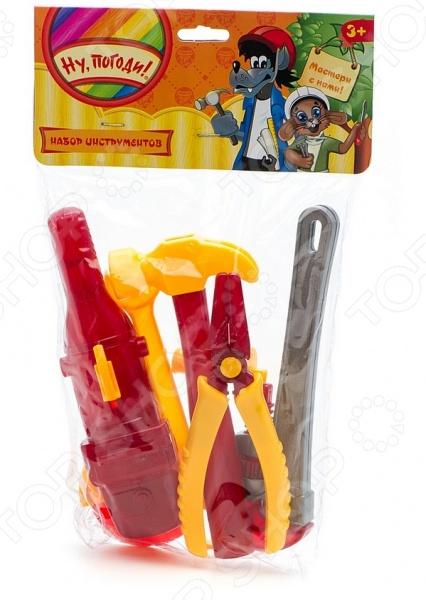 Набор инструментов игровой 1 Toy «Ну, погоди!» Т58339 развивающая игрушка 1toy ну погоди 1toy ну погоди музыкальные инструменты в барабане
