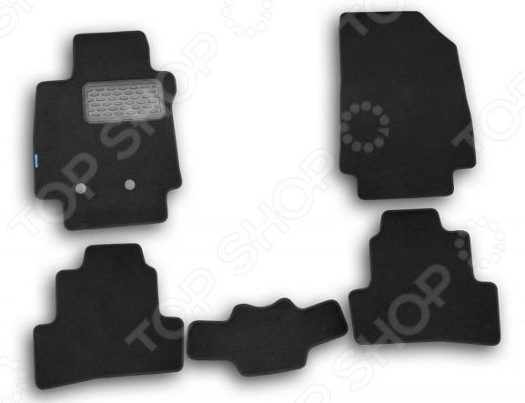Комплект ковриков в салон автомобиля Novline-Autofamily Renault Clio III 2009 хэтчбек. Цвет: черный комплект 3d ковриков в салон автомобиля novline autofamily ford mondeo 2015