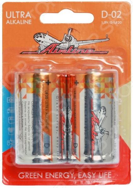Набор батареек щелочных Airline LR20/D набор батареек щелочных airline ag12 lr43