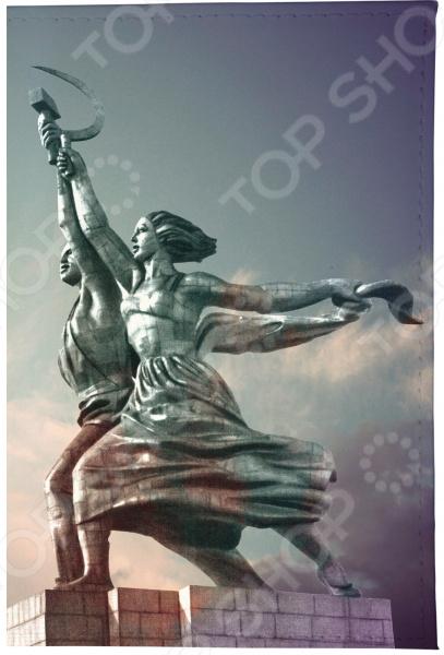 Визитница Mitya Veselkov «Рабочий и Колхозница» визитницы mitya veselkov визитница олени на черном