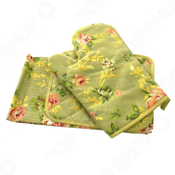 Комплект из 2-х полотенец и прихватки подарочный BONITA «Английская коллекция» 01010215514 набор полотенец bonita аппликация цвет бежевый зеленый оранжевый 40 х 60 см 3 шт