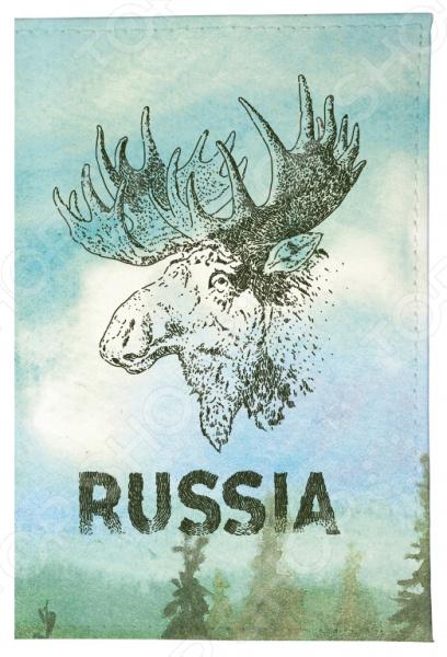 Обложка для автодокументов Mitya Veselkov «Лось» обложка для автодокументов кожаная mitya veselkov лось