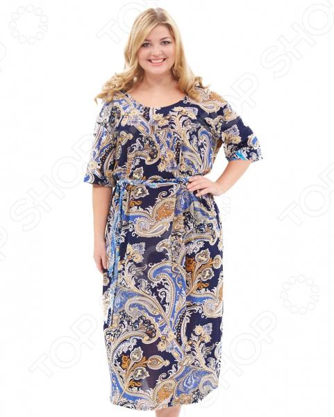 Платье Лауме-стиль «Восточная красавица». Цвет: темно-синий