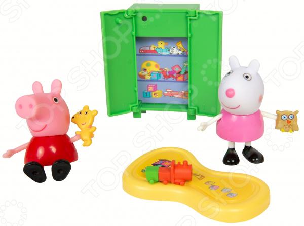Игровой набор фигурок Peppa Pig «Пеппа и Сьюзи играют в игры» peppa pig пакет подарочный пеппа и сьюзи 35 х 25 х 9 см