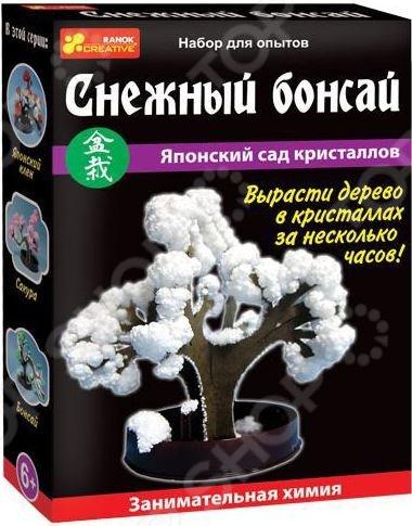 Набор для выращивания Ранок «Японский сад кристаллов. Снежный бонсай» наборы для выращивания растений вырасти дерево набор для выращивания ель канадская голубая