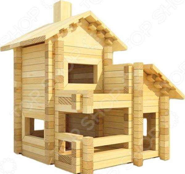 Конструктор деревянный Лесовичок «Разборный домик №4» конструктор лесовичок разборный домик 3 из 150 деталей les 003