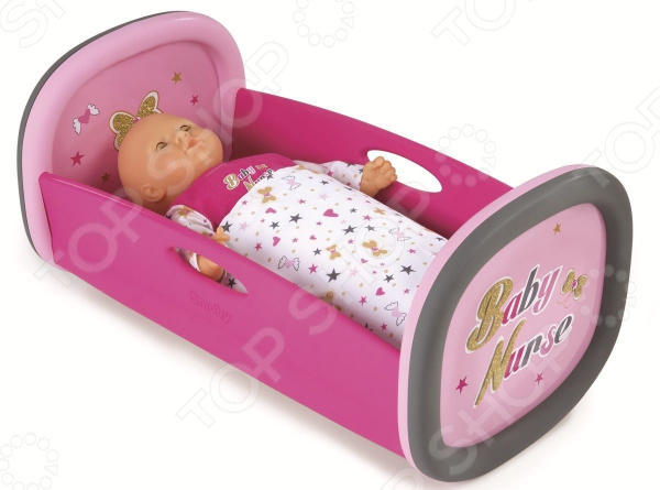 Кроватка-люлька для куклы Smoby Baby Nurse колыбель для пупса smoby baby nurse 28 5х52х26см