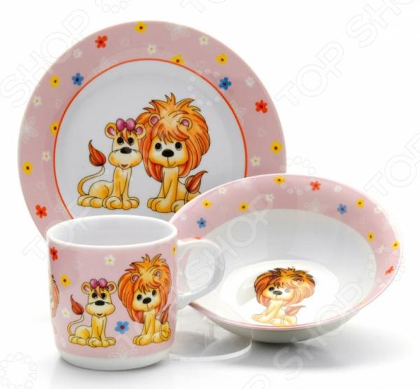 Набор посуды для детей Loraine LR-26097 «Лев»