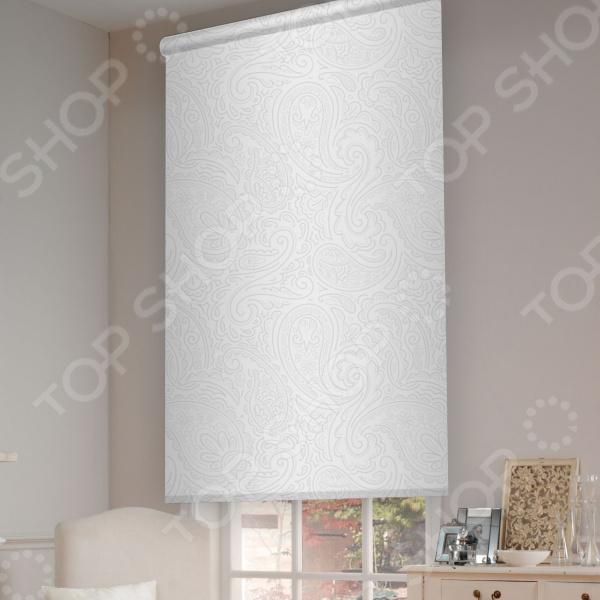Рулонная штора Эскар «Арабеска». Цвет: белый